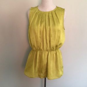 Violet & Claire Sleeveless Chartreuse Top